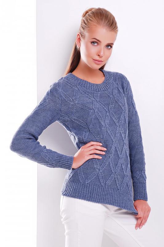 Красивый вязанный свитер - Фото 2