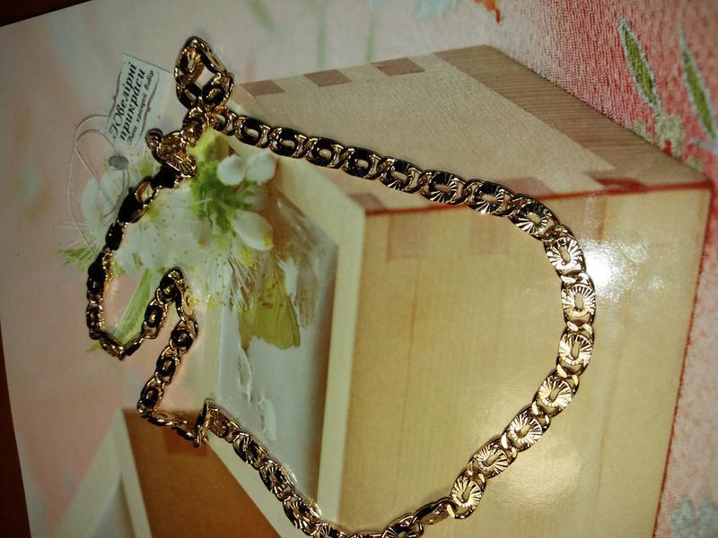 Цепочка позолота, медицинское золото - Фото 2