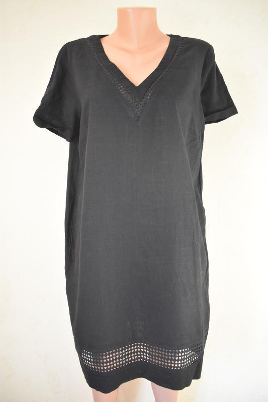 Льняное платье next