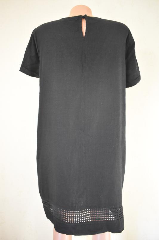 Льняное платье next - Фото 3