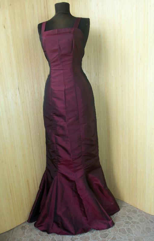 Вечернее / выпускное платье атлас шелк