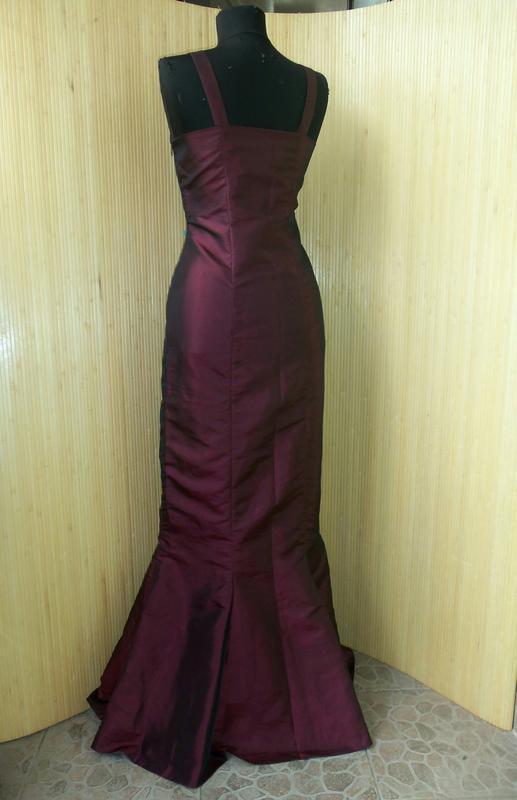 Вечернее / выпускное платье атлас шелк - Фото 2