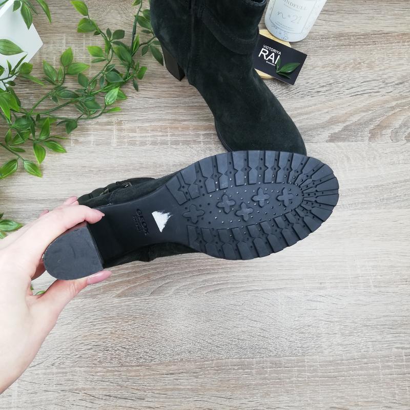 🌿40🌿geox. замша. классные ботинки на устойчивом каблуке - Фото 2