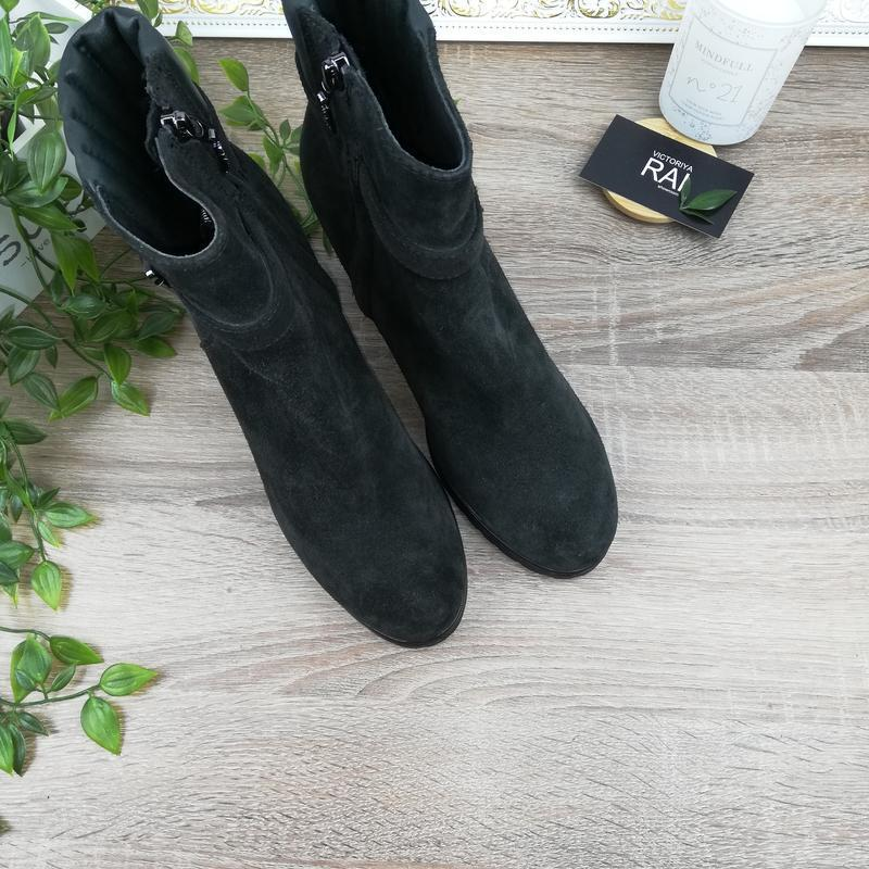 🌿40🌿geox. замша. классные ботинки на устойчивом каблуке - Фото 3