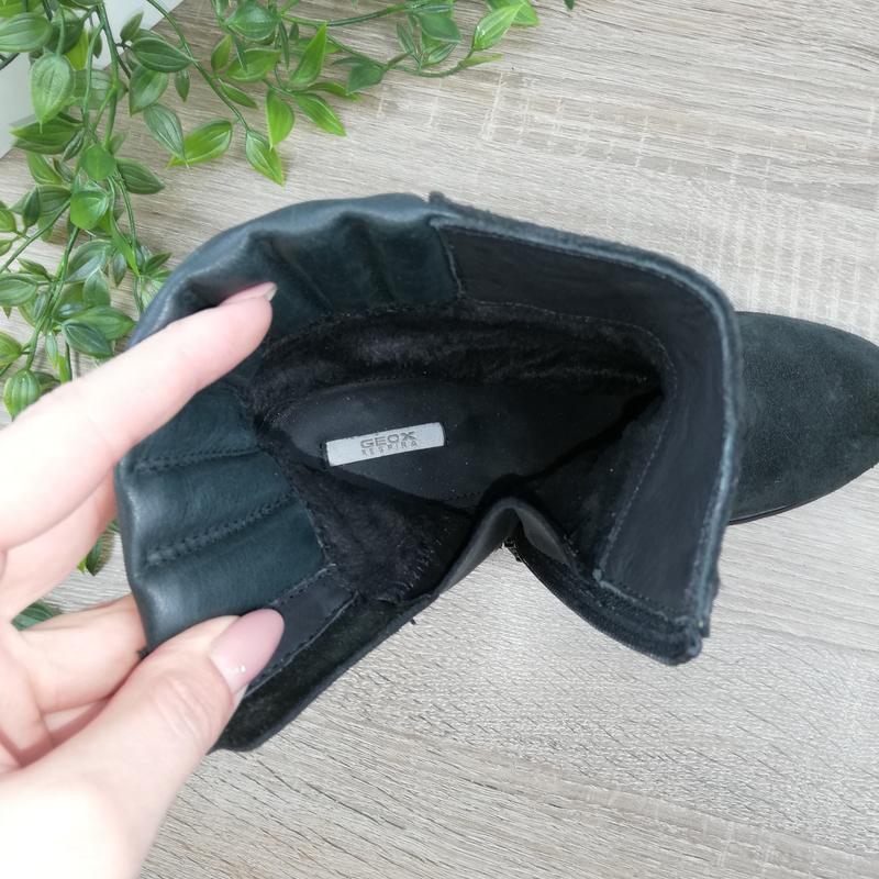🌿40🌿geox. замша. классные ботинки на устойчивом каблуке - Фото 4