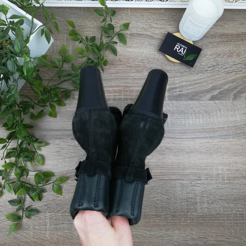 🌿40🌿geox. замша. классные ботинки на устойчивом каблуке - Фото 5
