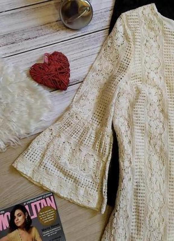 Красивое кружевное платье -рукава воланы размер 12-14(42-44) - Фото 3