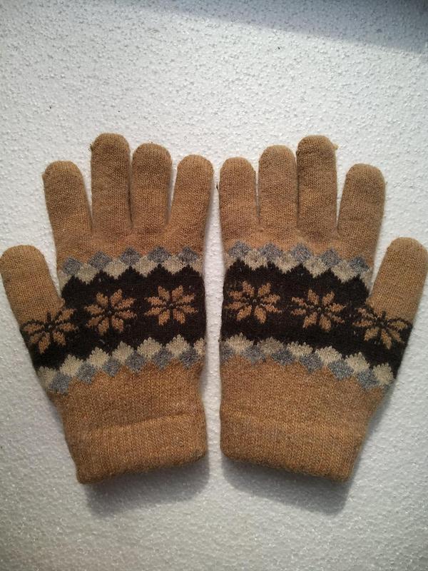 Перчатки зимние вязанные