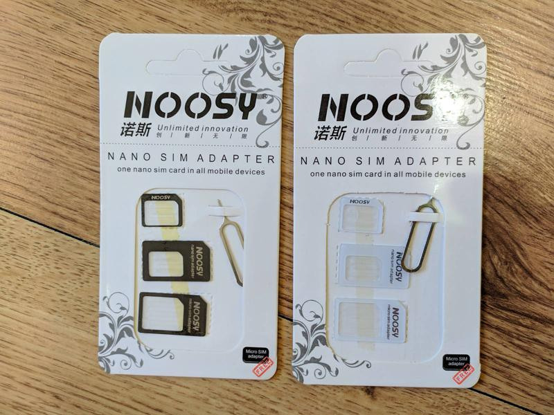 Адаптер переходник для нано микро SIM СИМ карты + скрепка