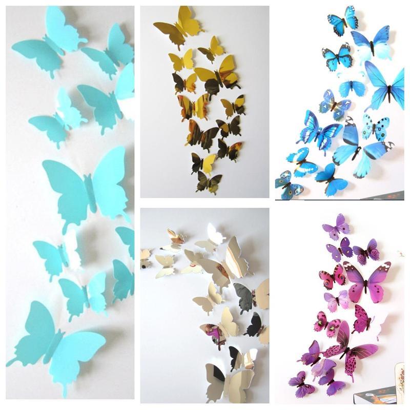Бабочки 3D наклейки
