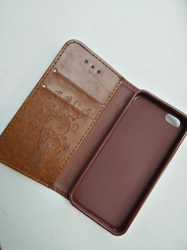 Чехол-книжка для apple iphone эпл айфон 5/5s кожа - Фото 2