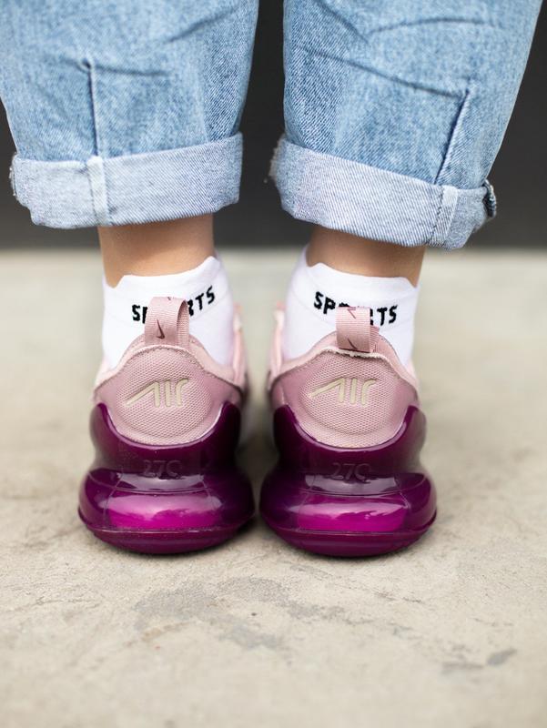 Кроссовки nike 270 pink - Фото 2