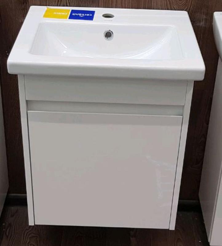 Мебель для ванной, тумба с раковиной, умывальник, зеркало, пенал - Фото 8