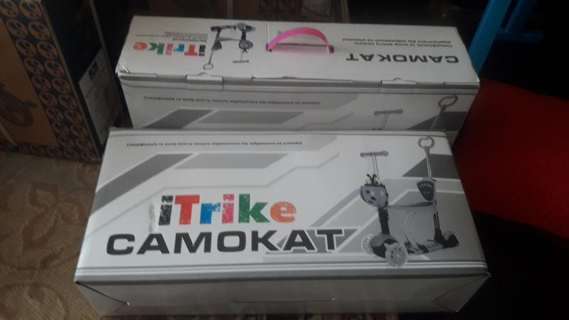 Акция!Новый детский  Самокат 5 в 1 iTrike JR 3-026-B +Подарок. - Фото 5