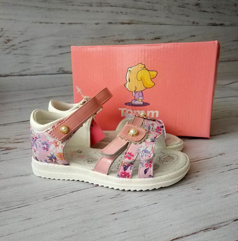 Кожаные босоножки для девочек tom.m