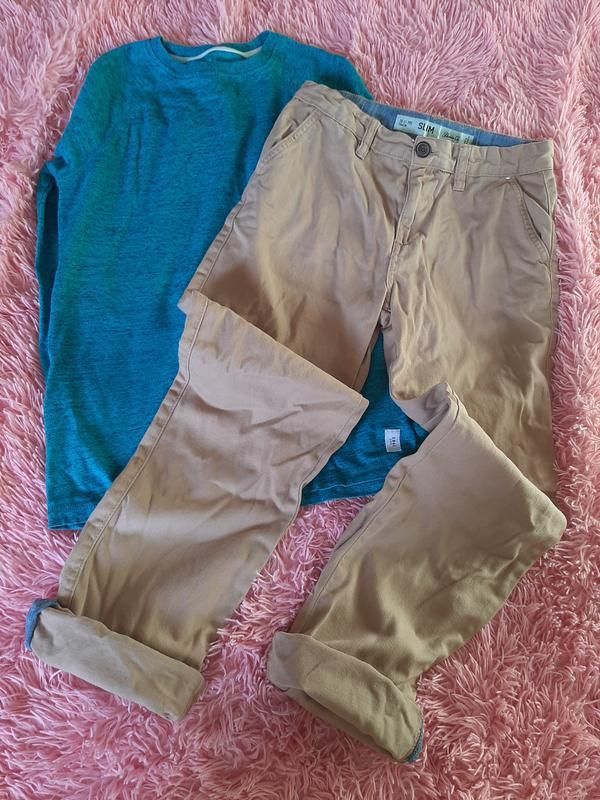 Летние тонкие джинсы брюки мальчику джоггеры слим скинни котто... - Фото 5