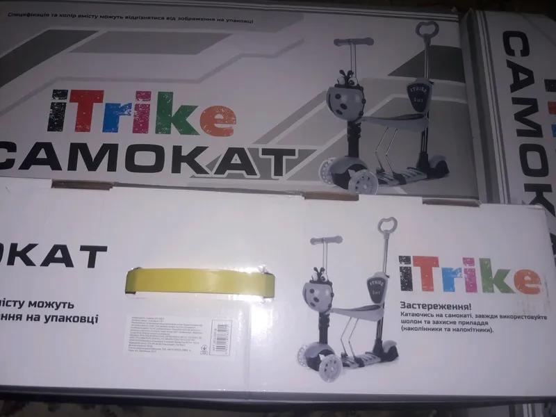Акция!Новый детский Самокат 5 в 1 iTrike JR 3-026-B +Подарок. В - Фото 2