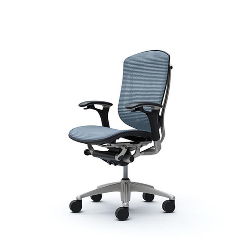 Офисное кресло OKAMURA CONTESSA Light Grey - голубой