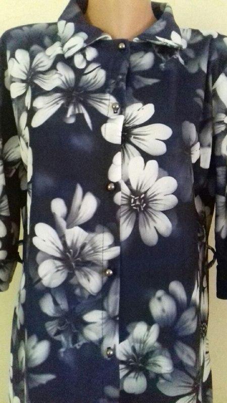 Платье-рубашка с принтом большого размера - Фото 2