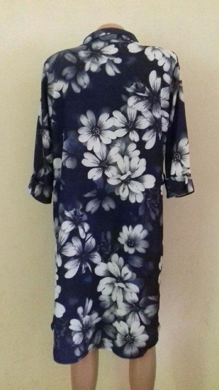 Платье-рубашка с принтом большого размера - Фото 3