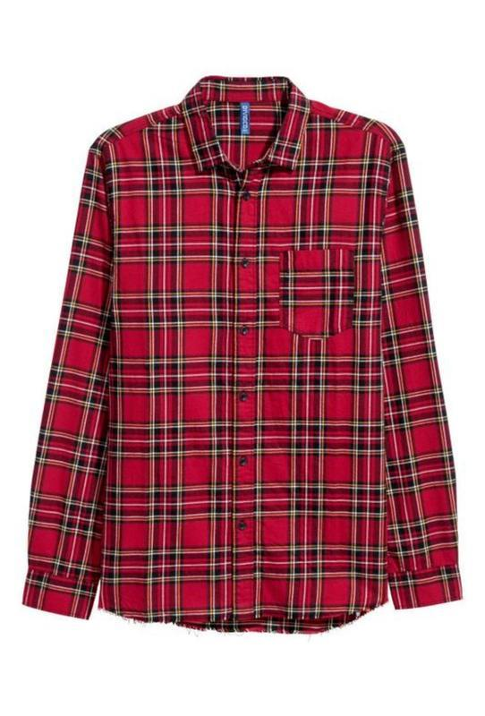 Мужская клетчатая фланелевая рубашка l