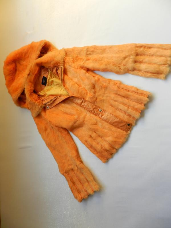 Куртка мех кролик кожа - Фото 2