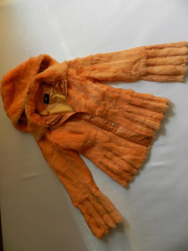 Куртка мех кролик кожа - Фото 3