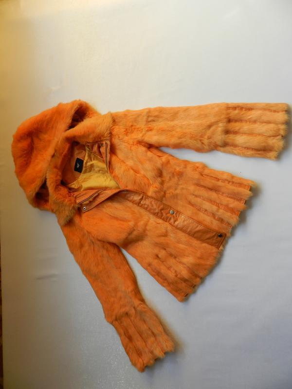 Куртка мех кролик кожа - Фото 7