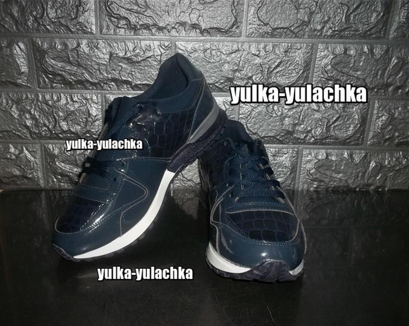 Женские кроссовки темно-синие