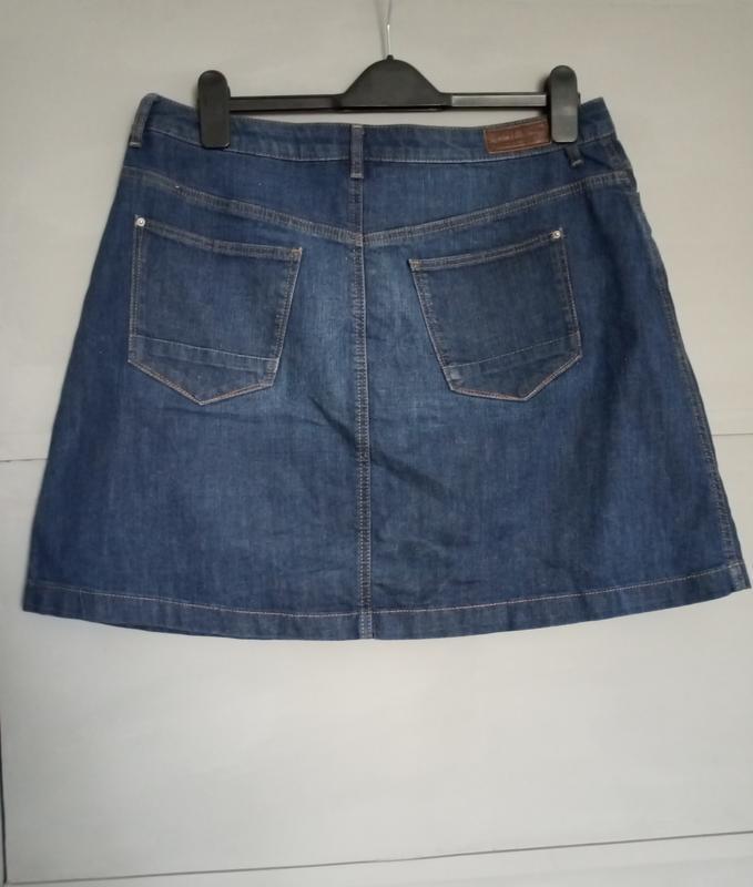 Актуальная юбка. джинсовая юбка. миди . мини. юбка трапеция - Фото 3