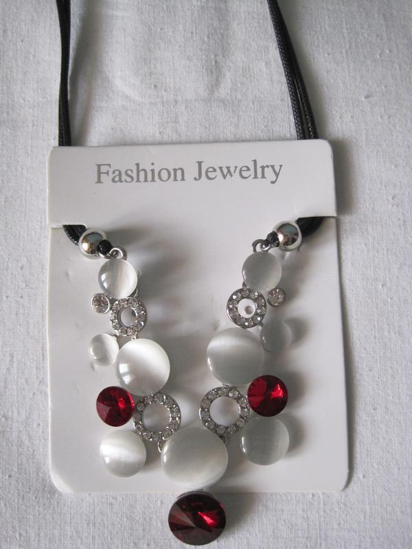 4-45 ожерелье opal бижутерия - Фото 3