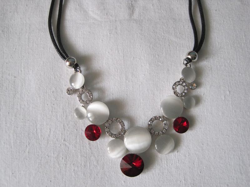 4-45 ожерелье opal бижутерия - Фото 4