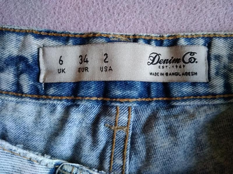 Высокие рваные джинсовые шорты варёнка - Фото 6