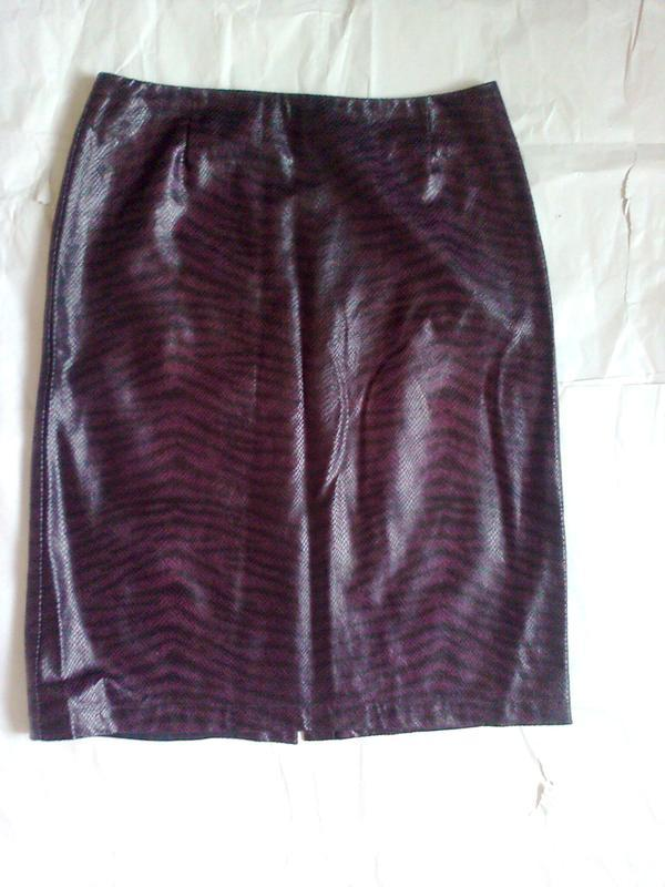 Хищная юбка-карандаш р.м vero moda фактурная ткань под кожу - Фото 5