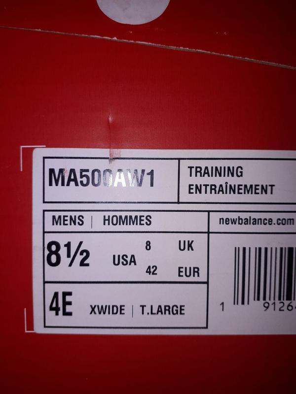 Кожанные кроссовки new balance m8.5 - Фото 3