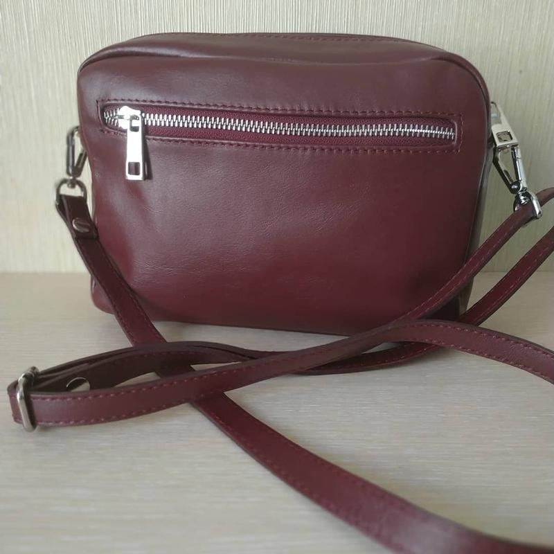 Женская кожаная сумочка итальянского производства - Фото 2