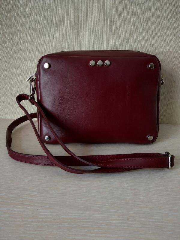 Женская кожаная сумочка итальянского производства - Фото 3