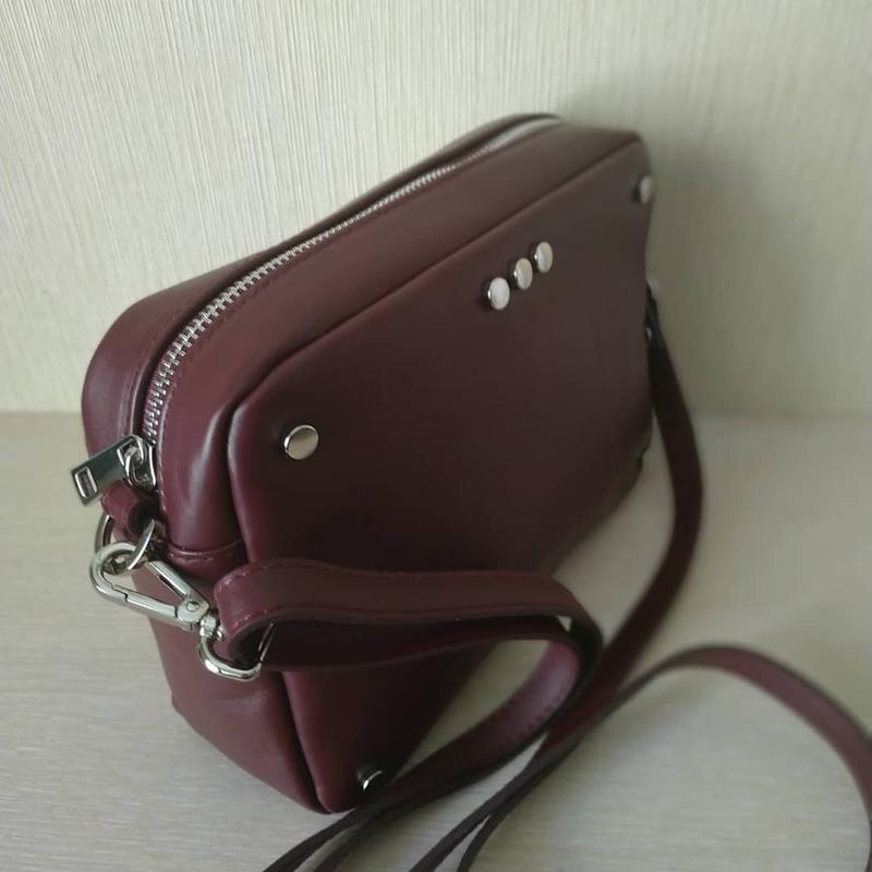 Женская кожаная сумочка итальянского производства - Фото 4