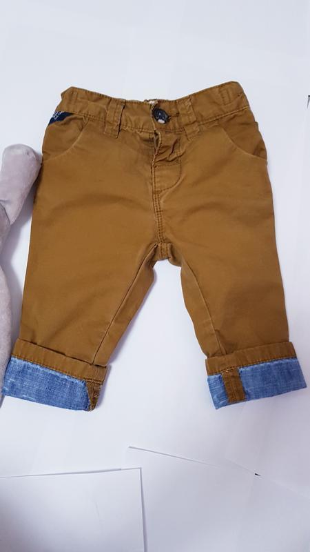 Горчичные штаны next 3-6 мес