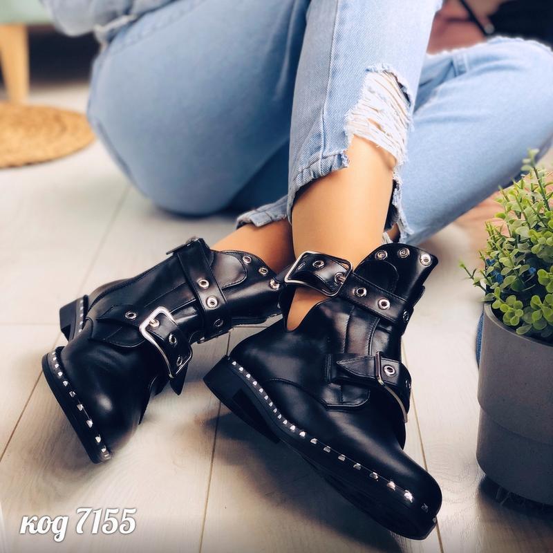 Кожаные ботинки натуральная кожа черевки ботики полусапоги пол... - Фото 5
