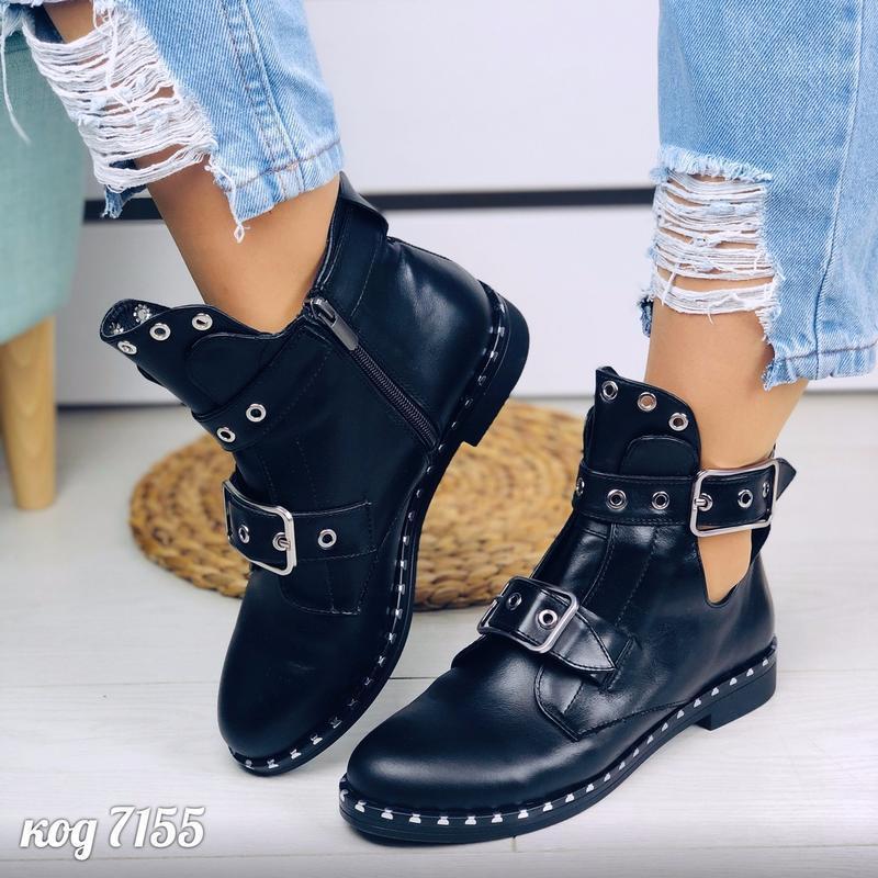 Кожаные ботинки натуральная кожа черевки ботики полусапоги пол... - Фото 6