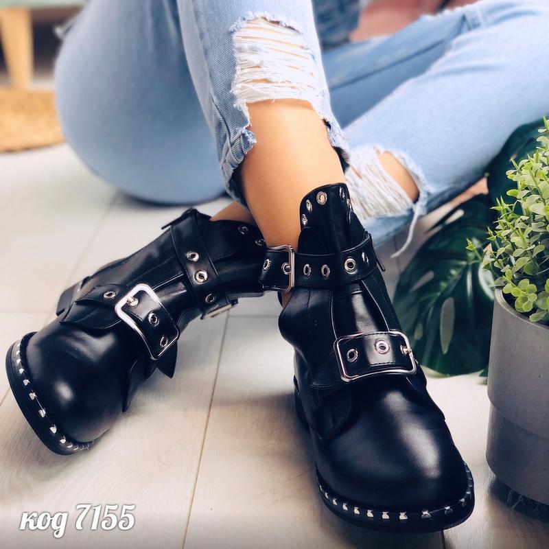 Кожаные ботинки натуральная кожа черевки ботики полусапоги пол... - Фото 7