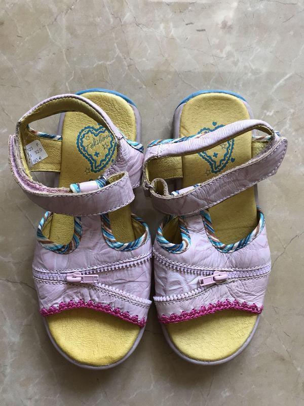 Детские сандали для девочки 32 р кожа мягкая стелька