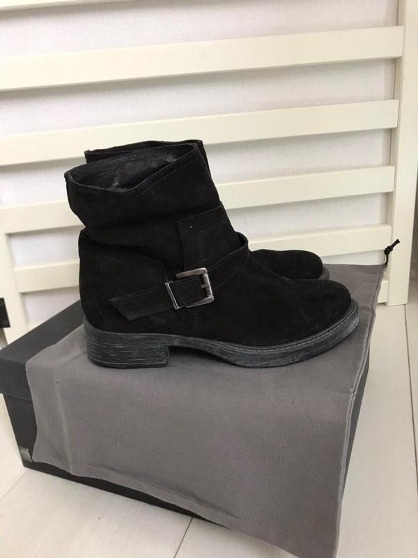 Замшевые ботинки италия кожа 37 р удобные - Фото 2