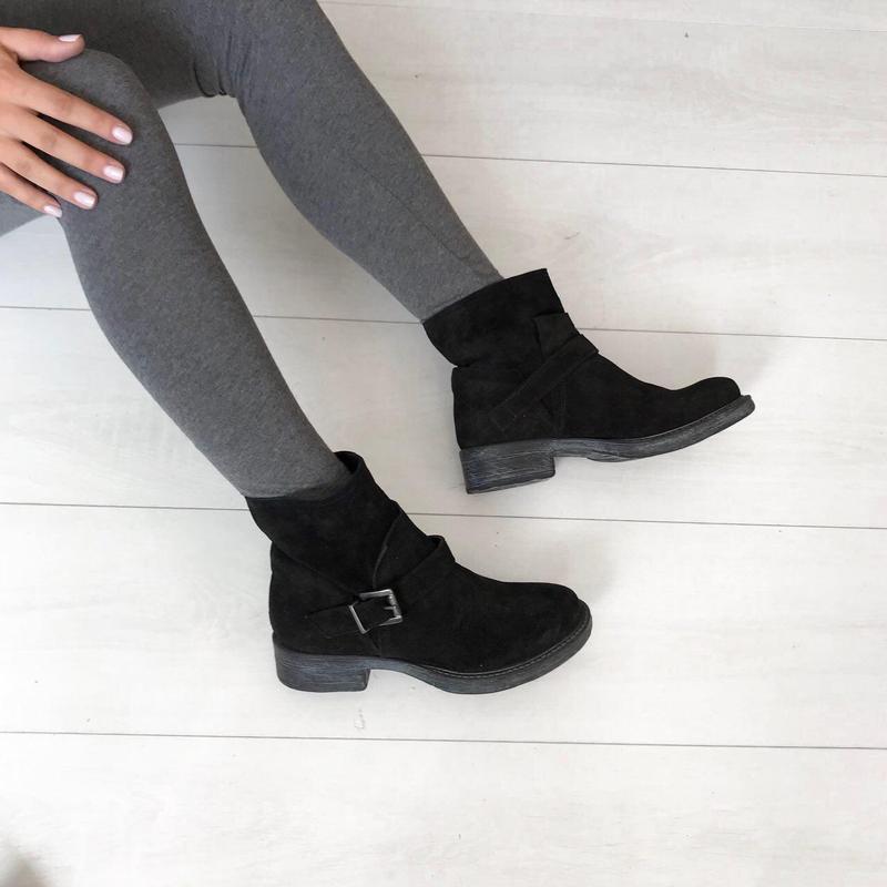 Замшевые ботинки италия кожа 37 р удобные - Фото 3