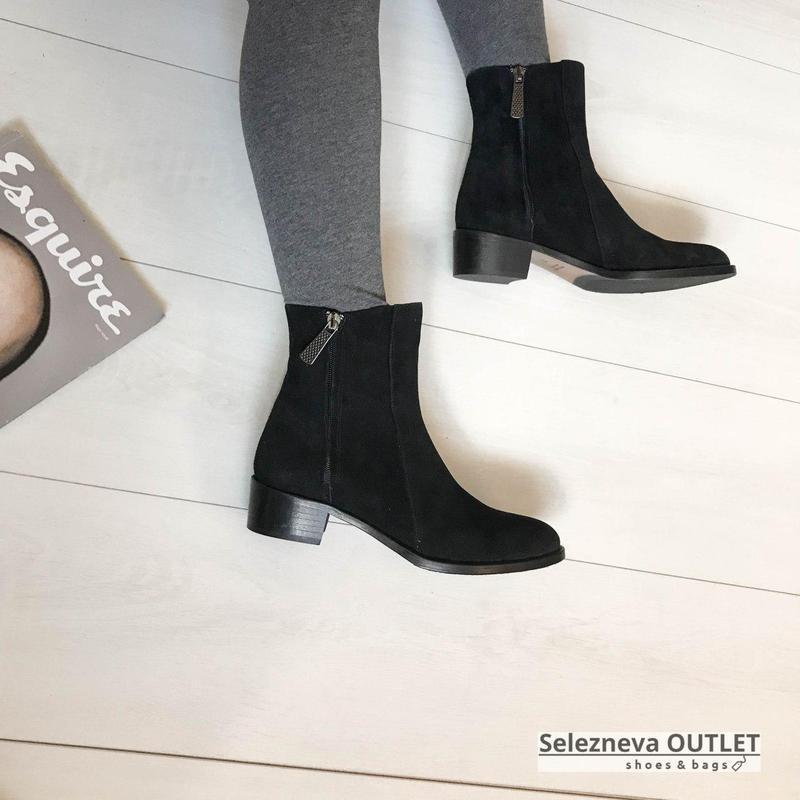Замшевые ботинки италия кожа супер мягкие и удобные 37 р