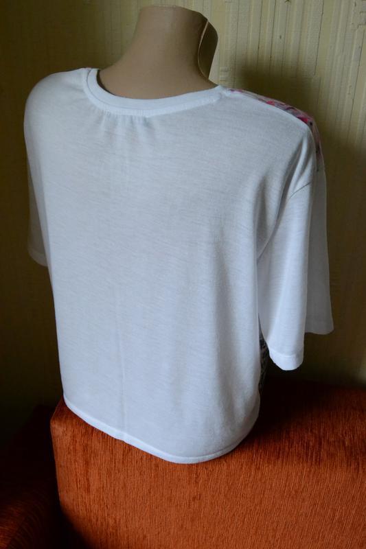 Свободная футболка с ярким принтом bronx atmosphere - Фото 4