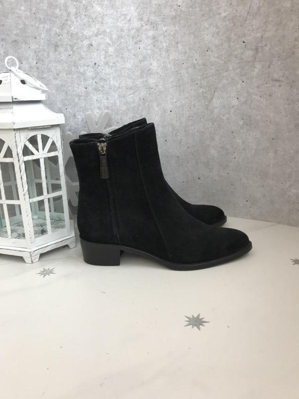 37 р ботинки черные италия замша