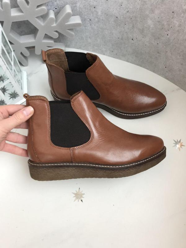 37 р ботинки кожа италия челси на платформе