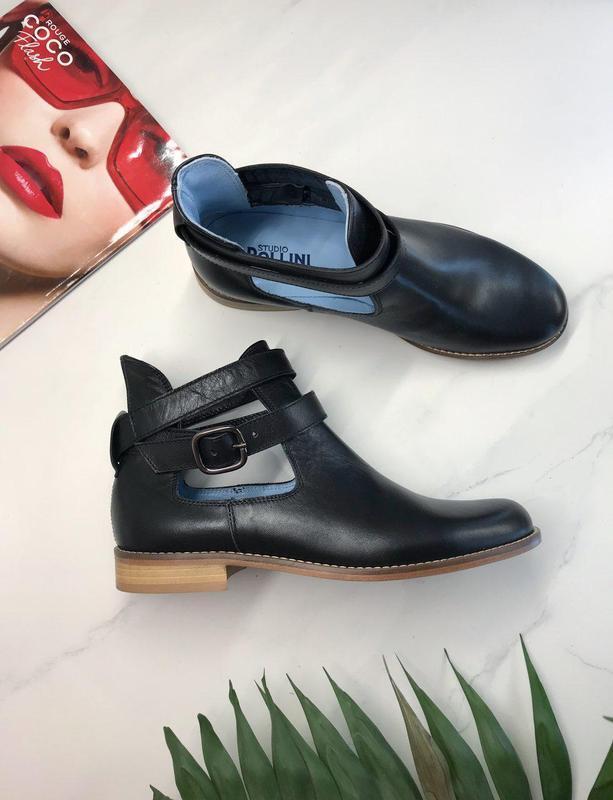 38 р ботинки pollini италия кожа